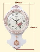 Metal accurate wall clock--- 36cm Retro Swing Wood Craft Wall Clock Modern Minimalist Pastoral Table Creative Quartz Quiet Living Room Wall Clock (Colour Optional) ---1 x AA battery (NOT INCLUDED)