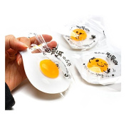 Fried Egg Sunny Side up Jelly Toy Soft Squeeze Squishy Jelly Pudding Toy Set of 2