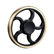 Fidget Spinner Gold, Metal Brass Plastic Combo Fidget Spinners Round Wheel, Focusing Toy Stress Release Spinner Lightweight for Girl and Small Hand, for Anxiety ADD ADHD and Autism