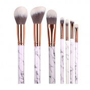 DOITOP 10Pcs Marble Make Up brushes Foundation Eyebrow Eyeliner Blush Cosmetic Concealer Brushes Super Soft Hair