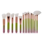 Makeup brushes sets,Molie Professional 15PCS Cosmetics Brush Kits Foundation Eyeshadow Eyebrow Highlight Blush Brush