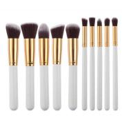 PERMAN 10 pcs Makeup Brushes Set Professional Cosmetics Foundation Blending Blush Eyeliner Face Powder Lip Brush Makeup Brush Kit