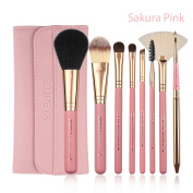 Zoreya 8Pcs Makeup Brush Sets with Bag Sculpting Face Brush Liquid Foundation Brush Cosmetic Brush Kit