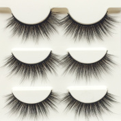 Wehous 12 Pairs Luxurious Super Long 3D Natural Cross Thick False Eyelashes Eye Lashes Makeup D76