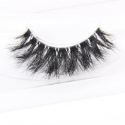 Arimika Handmade 3D Mink False Eyelashes -Reusable with Clear Invisible Flexible Band, Lightweight Natural Looking,Cruelty Free