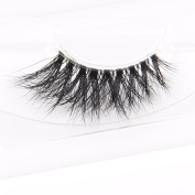 Arimika Handmade 3D Mink Half Corner False Eyelashes -Reusable with Sturdy Flexible Band,Cruelty Free