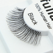 #107, 12 Pairs ifullash 100% Human Hair Eyelashes
