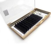 Ellipse Flat Eyelash Extension Matt Black colour For Professional False Eyelashes 0.15mm thickness C curl 11MM 1Tray