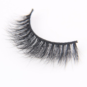Arimika Handmade 3D Mink Fake Eyelashes -Voluminous Fluffy Natural Looking,Reusable with Sturdy Flexible Band,Cruelty Free