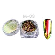 ☀ KESEE 6 Colours Powder Flakes Nail Bling Mirror Shimmer Powder Nail Art Glitter Decora
