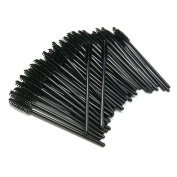 100 PCS Disposable Mascara Wands - Black Eyelash Brushes Eye Lash Makeup Applicators Brush Kit
