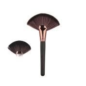 AMarkUp Professional Makeup Large Fan Goat Hair Blush Face Powder Foundation Cosmetic Brush