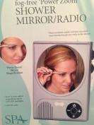 SPA essentials by Schildkraut fog free power zoom shower mirror radio