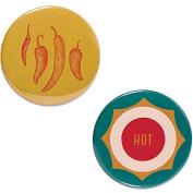 Odeme Button Mirror Set Hot Pepper 2 pcs
