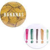 Odeme Button Mirror Set Bananas 2 pcs