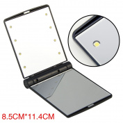 Folding Make-up Pocket Cosmetic Mirror with 8 LED Light Up
