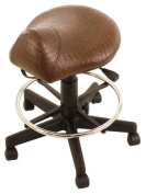 Kayline 812V CROC BROWN High-Rider Salon and Barber Saddle Stool + Free YS Park Chignon Clips
