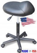 915-FF Salon Spa Saddle Anti-fatigue Cutting Stool chair Made in USA by Dina Meri
