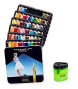 Prismacolor Premier Soft Core Coloured Pencil, Set of 132 Assorted Colours (4484) + Prismacolor Scholar Coloured Pencil Sharpener