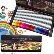 Omonic Luxury 72 Colour Premier Soft Core Art Coloured Drawing Pencils for Artist Sketch Secret Garden Colouring Book Kids Artist Writing Manga Artwork