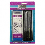 Icon Professional Graphite Pencils - Tin of 6 - 2B, 4B and 6B