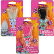 Party Favours Dreamworks Trolls 3D Moulded Eraser on Card 3 Asstd- 3 Pcs