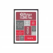 10 Things I Love About You Non Personalised Light Box