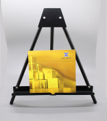 Fixture Displays Table Top Easel with Portable Design, 17.5 x 16.75 - Black 19449 19449
