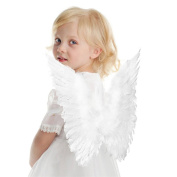 Rurah White Butterfly Style Costume Feather Angel Wings For Children's White Colour