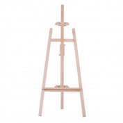 Aibecy 150cm/ 59 Inch Durable Art Artist Wood Wooden Easel Sketch Drawing Stand NZ Pine for Painting Sketching Display Exhibition