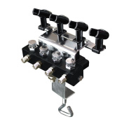 OPHIR Airbrush Holder Station with 4 Splitters that Can Hold Up to 4 Airbrushes