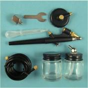 Airbrush Hobby Kit ,Air Brush Compressor,Starter Single-Action Syphon Feed Airbrush Kit