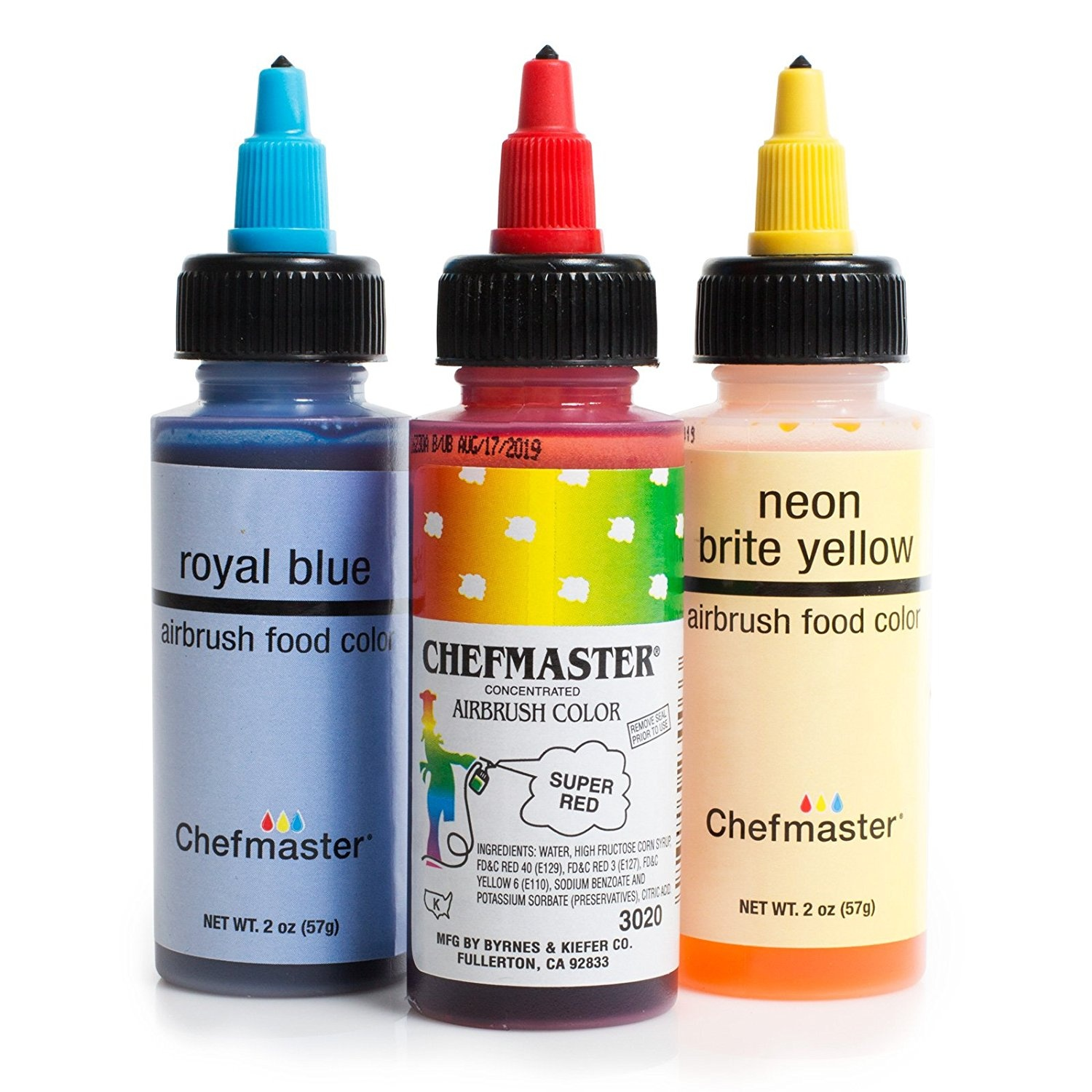 Chefmaster Cake Decorating Food Colouring Airbrush Paint Set - 3 ...