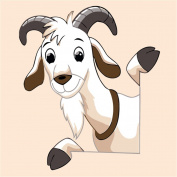 CaptainCrafts New Paint by Number Kits - Goat With Frame - Diy Painting by Numbers for Kids, As Children's Day Birthday gift