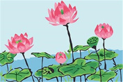CaptainCrafts New Paint by Number Kits - Pond Lotus And Lotus Leaf 20cm x 30cm Frame - Diy Painting by Numbers for Kids