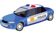 CaptainCrafts New Paint by Number Kits - Police Car 20cm x 30cm Frame - Diy Painting by Numbers for Kids