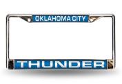 Oklahoma City Thunder Laser Chrome Frame