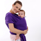 Baby Wrap Carrier Neutral Purple - Multiple Positions breathable soft lightweight adjustable suitable for newborns infants - bamboo fibre - ideal gift