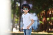 Idol Eyes Metal Aviator Kids Sunglasses with Revo Blue Mirror Coating