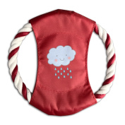 Pink Sky Rain Cloud Leisure Pet Throw Toy Braided Cotton Rope Frisbee Dog Chew Toys Outdoor Training Tool Canvas Flying Disc