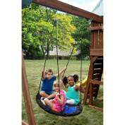 Kids Creation Blue Nest Swing Holds Up To 90kg. w/ Heavy-duty Steel Construction & Extra Padding for Enhanced Safety