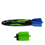 25cm Black, Blue and Green Toypedo Max Underwater Swimming Pool Toy