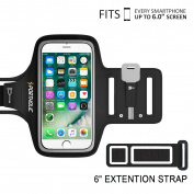 iPhone 6 6s 7 Plus Sports Armband, PORTHOLIC For Galaxy S7/8, LG G5, Note 3/4/5 with Key & Cards Holders, Cable Locker