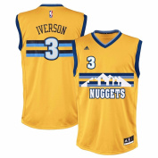 Allen Iverson Denver Nuggets NBA Adidas Men's Gold Replica Jersey