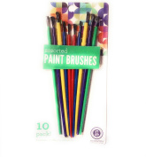 10 pack Assorted paint brushes