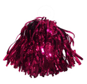 ACI PARTY and SPIRIT ACCESSORIES Mini Cheer Pom Metallic Burgundy with Ring