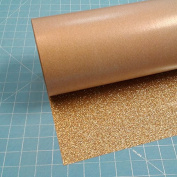 Old Gold Siser Glitter 50cm x 1.5m Iron on Heat Transfer Vinyl Roll, HTV