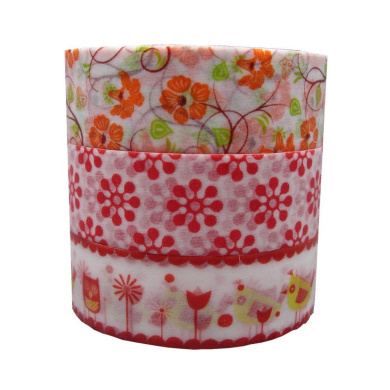 3 Rolls 15mm10m DIY Flower Washi Paper Decorative Sticky Masking Tape Self Adhesive