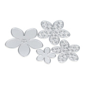 Tosangn_Home 4PCS Punching petals Metal Flower Cutting Dies Stencil DIY Scrapbooking Embossing Album Paper Card Craft For Teens,5.5CM