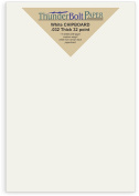 20 Sheets Chipboard 32pt white 1 side 14cm X 22cm (14cm X 22cm ) Half Letter | Statement Size - Medium Weight Thickness PaperBoard .032 (point) Calliper White Coated on Brown Kraft Cardboard Paper